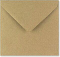 Bruine FreshPaper Kraft enveloppen 15,5x15,5 cm 100 stuks