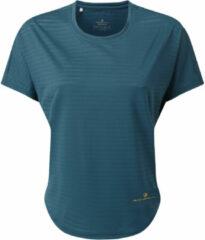 Blauwe Ronhill Women's Life Flow Short Sleeve Running Tee - Hardloopshirts (korte mouwen)