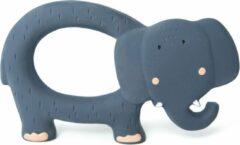 Blauwe Trixie natuurrubber grijpspeeltje   Mrs. Elephant   natural rubber grasping toy   badspeelgoed   bijtspeelgoed  
