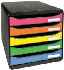 Exacompta Ladenkastje 309798D Polystyreen Zwart, roze, oranje, geel, groen, lichtblauw 27,8 x 34,7 x 27,1 cm