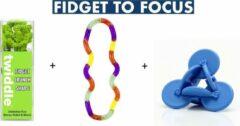 Tangle Toys Schoolpakket Klein - Snelafgeleid - Friemelset - Sensorische hulpmiddelen - Fidget - Focus