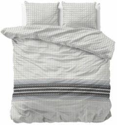 Sleeptime Romar - Dekbedovertrek - Eenpersoons - 140x200/220 + 1 kussensloop 60x70 - Grijs