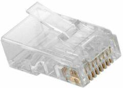 Nedis - Nedis CCGP89330TP Gebruiksvriendelijke Netwerkconnector Rj45 Male - Voor Solid Cat5 Utp-kabels 10 Stuks Transparant - 30 Dagen Niet Goed Geld Terug