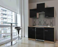 Respekta ® keukens Kleine keuken Meister B150cm eiken zwart