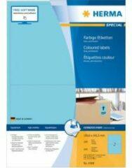 HERMA 4568 Gekleurde etiketten, A4, 199,6 x 143,5 mm, blauw, permanent hechtend