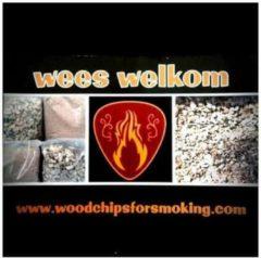 Www.woodchipsforsmoking.com Elzenhout snippers voor bbq, smoker en rookoven grof 60 liter