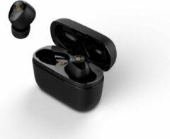 Zwarte Edifier Bluetooth 5.0 True Wireless Stereo in-ear 32 94dB 20Hz-20kHz 8mm Neodymium driver IPX4 Inclusief USB oplaadkabel 3uur speeltijd + 9uur van docking station