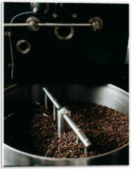 Grijze KuijsFotoprint Forex - Koffiebonenmachine - 30x40cm Foto op Forex