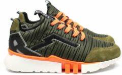 Groene Red-Rag 13441 Kaki Fabrics Sneakers lage-sneakers