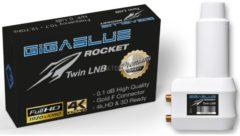 LNB Rocket Twin LNB GigaBlue Weiß