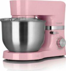 Roze Heinrich's Heinrich´s HKM 6278 Rose Pink keukenmachine, kneedmachine, mengmachine, 3 accessoires, 1300 watt motor, XL 6,5 liter RVS mengkom, metalen aandrijving, verlichte schakelaar, leverbaar in 7 kleuren.