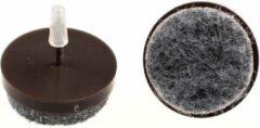 Verlofix Viltnagel Diameter 24mm Nylon Bruin 16 Stuks