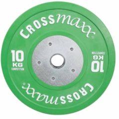 Groene Lifemaxx Crossmaxx Competition Bumper Plate - 50 mm - 10 kg