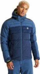 Dare 2b Dare2B Denote waterdichte, geïsoleerde ski-jas met capuchon voor heren, ademende outdoorjas, donker denim middernacht marineblauw
