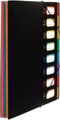 Sorteermap Viquel Rainbow Class ® A4 Zwart Met 8 Assorti Kleuren Tabs