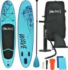 In.tec Opblaasbaar SUP board en accessoires turquoise met patroon