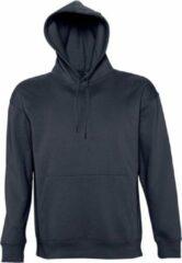 Marineblauwe SOLS Slam Unisex Hooded Sweatshirt / Hoodie (Marine)