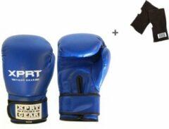 XPRT Fight Gear Blauwe bokshandschoenen 8 oz + binnenhandschoenen