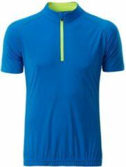 James & Nicholson Fusible Systems - Heren James and Nicholson Half Zip Fietsshirt (Blauw/Geel)