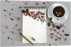 Rode KuijsFotoprint Plexiglas - Koffiebonen met Kruiden - 90x60cm Foto op Plexiglas (Wanddecoratie op Plexiglas)