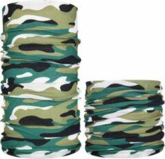 Fako Fashion® - Microfiber Faceshield - Bandana - Nekwarmer - Sjaal - Camouflage GWZ