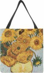 Gele Signare Boodschappentas groot - Sunflower - Zonnebloemen - Vincent van Gogh