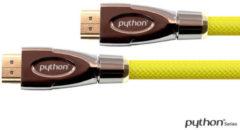 PYTHON Anschlusskabel High-Speed-HDMI mit Ethernet 4K2K / UHD - AKTIV (Redmere Chipsatz) - OFC - Nylongeflecht gelb - 25m - PYTHON Series GC-M0034