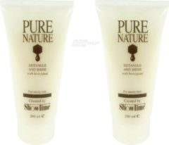 Showtime - Pure Nature - Detangle and Shine - Hair Conditioner honey - 2 x 200 ml