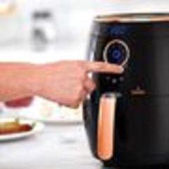 Goudkleurige Buccan - Airfryer 3.2 Liter - Hetelucht friteuse - zwart met roségoud