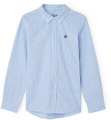Lichtblauwe Benetton Overhemd van katoen