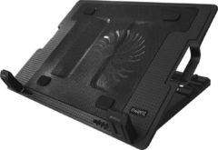 Ewent Notebookstandaard met koeling geschikt voor notebooks tot 17 inch Laptopstandaard Zwart