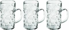 Transparante Santex 12x Bierpullen/bierglazen halve liter/50 cl/500 ml van onbreekbaar kunststof - 0,5 liter pullen - Bierpul glazen