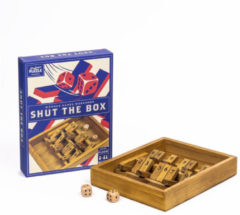Bruine Professor Puzzle Dobbelspel Shut The Box (en)