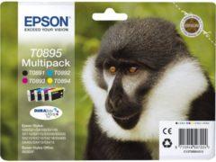 Sparpaket 4 Stück Epson Tintenpatronen T08954010 schwarz, cyan, magenta, gelb