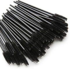 Zwarte Beautycare JR Wegwerp Mascara en Wimper Borsteltjes - Mascara Borsteltjes - Mascara Borstel - 50 stuks
