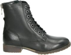 PS Poelman Nadia dames veterboot - Zwart - Maat 40