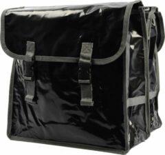 Zwarte Discountershop Fietstas - fietstassen - Fietstas dubbel waterdicht met reflecterende strepen voor extra veiligheid- Fietstas 32 Liter
