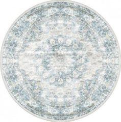 Veercarpets Vloerkleed Viola - Rond - ø120 cm - Blue - Blauw - Vintage