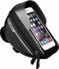 Sports4you Merkloos Stuurtas voor Smartphone - Telefoonhouder Fiets - Universele Fietstas - Extra Opbergruimte - Powerbank | Zwart