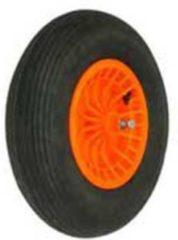 Fort Luchtbandwiel doorsnee 40 band 10 cm kunststof velg oranje