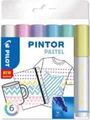 Paarse Pilot Pintor Pastel Verfstiften Set - Pastel Set - Medium marker met 4,5mm punt - Inkt op waterbasis - Dekt op elk oppervlak, zelfs de donkerste - Teken, kleur, versier, markeer, schrijf, kalligrafeer…