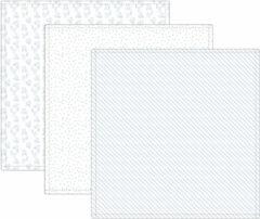 Blauwe Lässig Heavenly soft swaddle doek / hydrofiele luier met bamboe 3 stuks - lela licht blue L 80x80cm