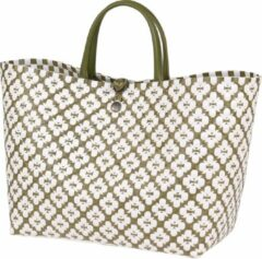 Handed By Motif Bag Dames Shopper Groen