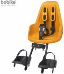 Gele Bobike One mini Fietsstoeltje Voorzitje - Mighty Mustard