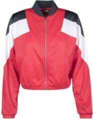 Urban classics trainings jacket 3 tone3 tone rood blauw