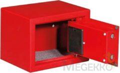 Rode Toolland BG90009 Elektronische kluis met code - 23 x 17 x 17 cm - rood