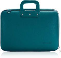 Blauwe Bombata Classic Hardcase Laptoptas 15 inch Teal Blue