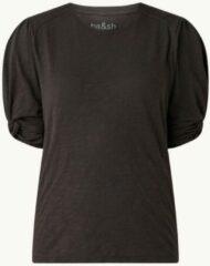 Antraciet-grijze Ba&sh Cimba T-shirt met pofmouw