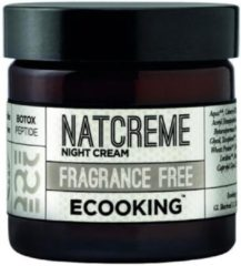 Ecooking Night Cream Fragrance Free - Nachtcrème Parfumvrij - Hydrateert en Verstevigt - Anti-Aging Werking - Vegan en Dermatologisch Getest - Pot 50 ml
