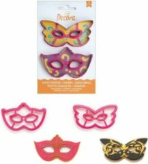 Roze Decora Koekjes Uitsteker Set Masker -2st
